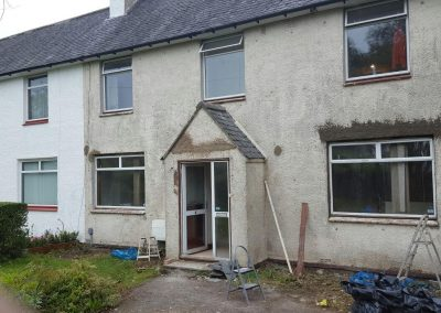 Before Wall Rendering in Scotland