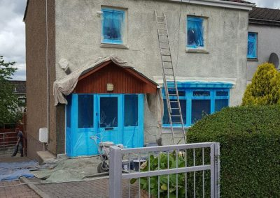 Before & After Wall Coating Image in Scotland