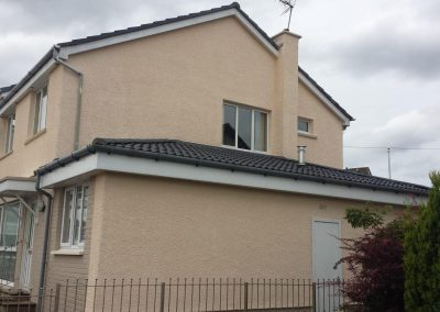 Wall coated house in Livingston, West Lothian
